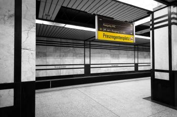 U-Bahn Muenchen Prinz regentenplatz