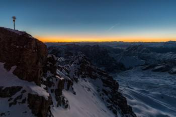 Zugspitze Morgenröte